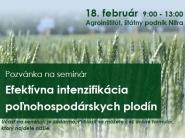 Pozvánka na seminár: Efektívna intenzifikácia poľnohospodárskych plodín